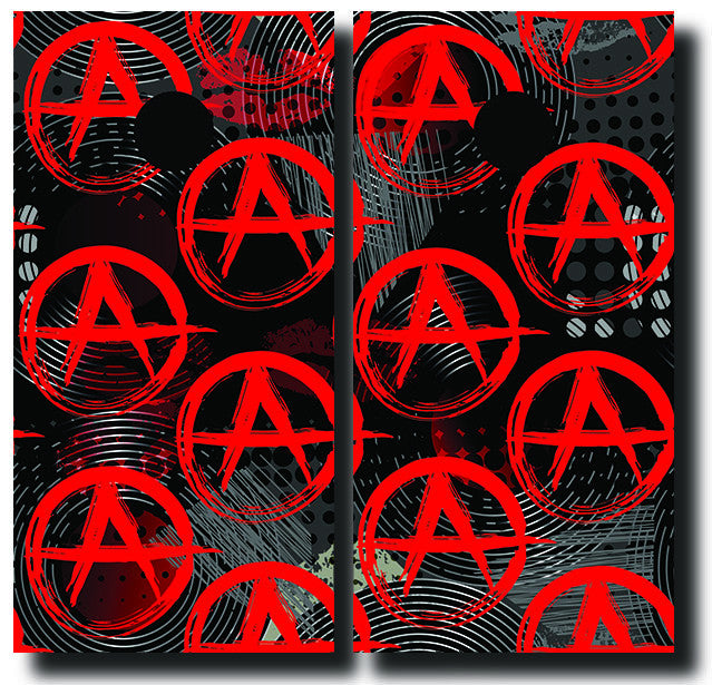 ANARCHY 24x48 cornhole board wraps - SET OF 2 - BG Boards and Graphics LLC