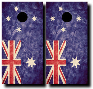 AUSTRALIAN GRUNGE FLAG 24x48 cornhole board wraps - SET OF 2 - BG Boards and Graphics LLC
