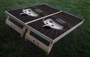 BOWLING BALL 3/4 hardwood tournament grade cornhole set with matching bags - BG Boards and Graphics LLC  - 1
