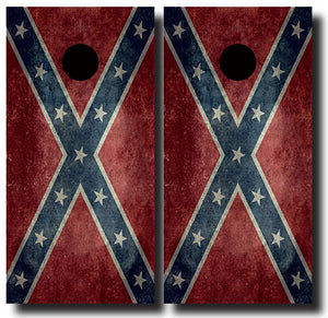 CONFEDERATE GRUNGE FLAG 24x48 cornhole board wraps - SET OF 2 - BG Boards and Graphics LLC