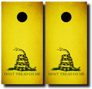 DON'T TREAD ON ME 24x48 cornhole board wraps - SET OF 2 - BG Boards and Graphics LLC