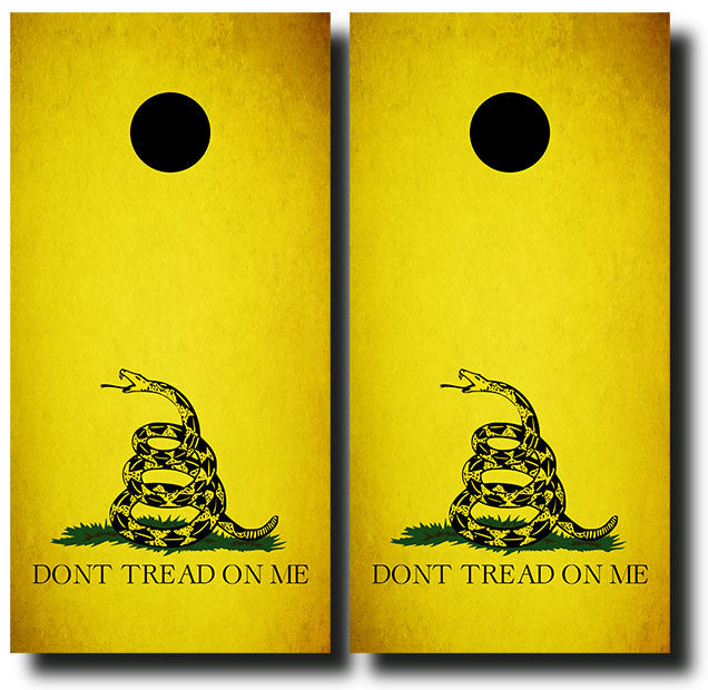 DON'T TREAD ON ME 3/4 hardwood tournament grade cornhole set with matching bags - BG Boards and Graphics LLC  - 2