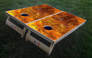 FIREMAN'S PRAYER 3/4 hardwood tournament grade cornhole set with matching bags - BG Boards and Graphics LLC  - 1