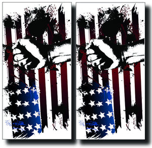 FIST AND FLAG 24x48 cornhole board wraps - SET OF 2 - BG Boards and Graphics LLC