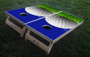 GOLF BALL 3/4 hardwood tournament grade cornhole set with matching bags - BG Boards and Graphics LLC  - 1