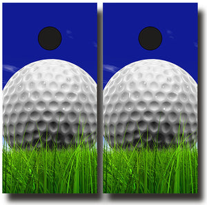 GOLF THEMED 24x48 cornhole board wraps - SET OF 2 - BG Boards and Graphics LLC