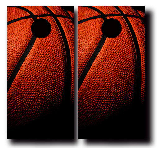 BASKETBALL THEMED 24x48 cornhole board wraps - SET OF 2 - BG Boards and Graphics LLC