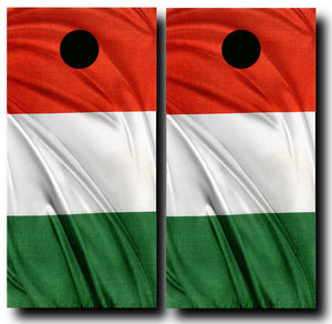SILKY ITALIAN FLAG 24x48 cornhole board wraps - SET OF 2 - BG Boards and Graphics LLC