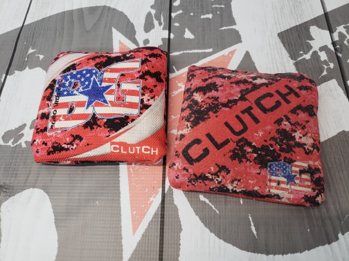 "2018-2019 ACL Approved BG ""PATRIOT 2"" CLUTCH Limited Edition Cornhole Bags"
