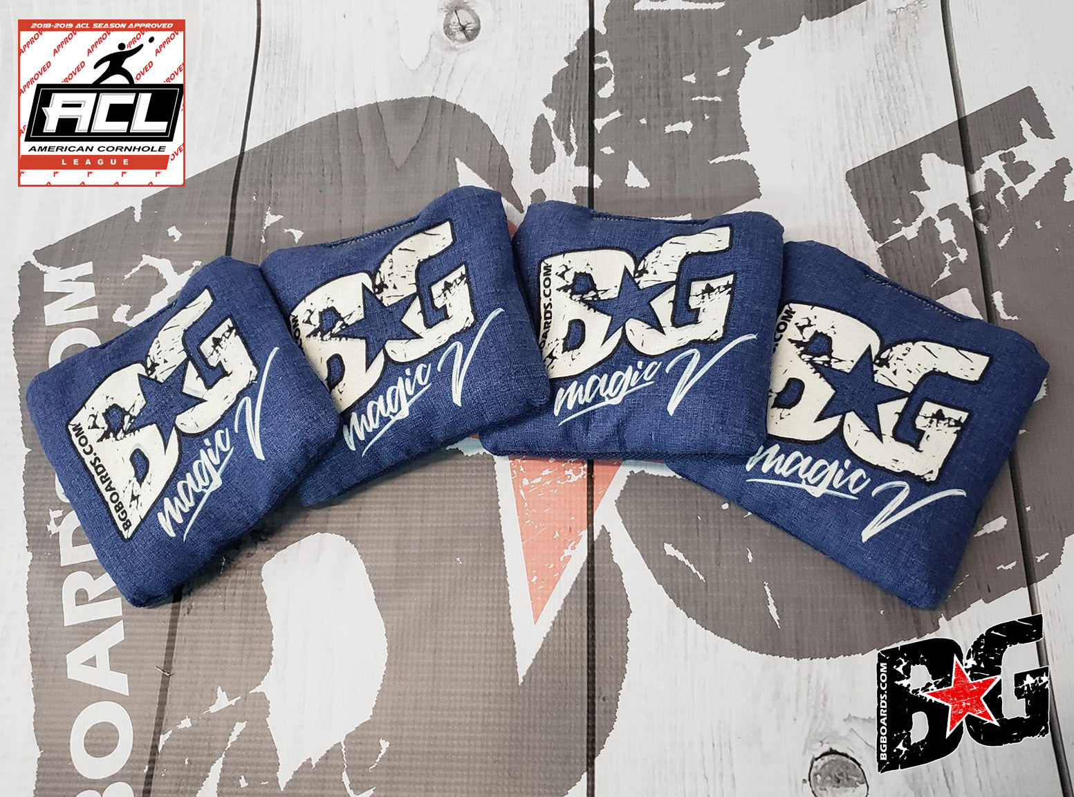 BG Magic V Tournament Cornhole Bags - HALF SET OF 4 BAGS