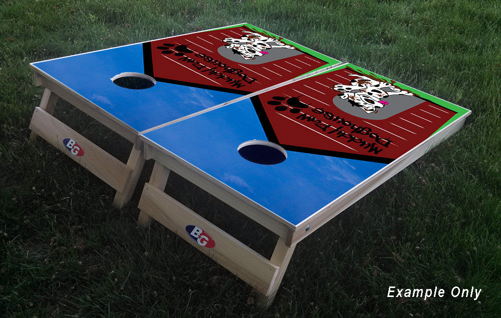 CUSTOMER DESIGNED 3/4 hardwood tournament grade cornhole set with matching bags - BG Boards and Graphics LLC  - 1