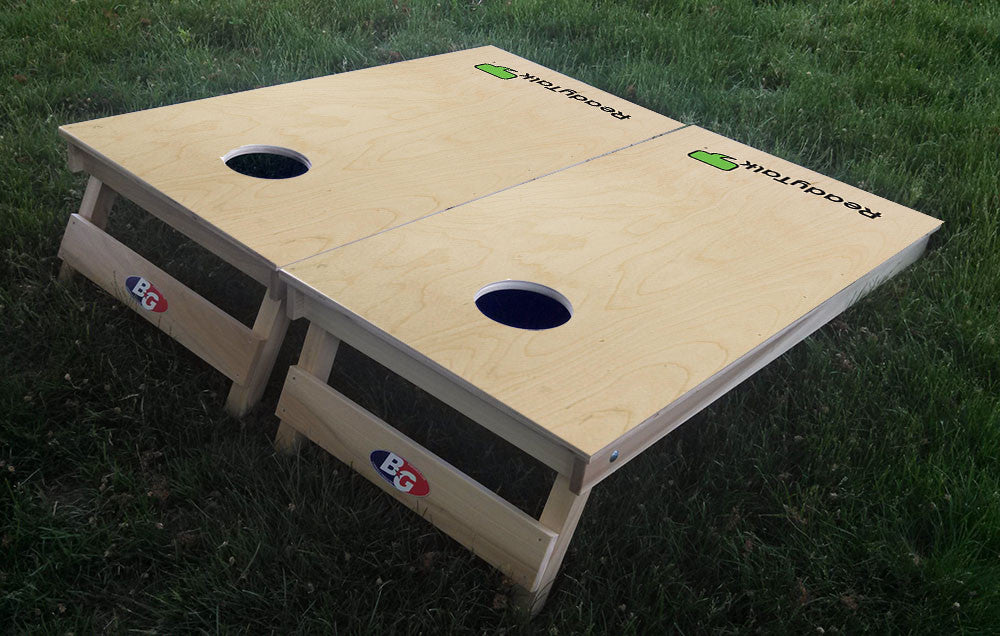 CUSTOMER DESIGNED 3/4 hardwood tournament grade cornhole set with matching bags - BG Boards and Graphics LLC  - 5