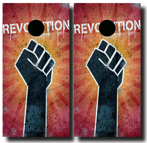 REVOLUTION 24x48 cornhole board wraps - SET OF 2 - BG Boards and Graphics LLC