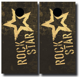 ROCK STAR 24x48 cornhole board wraps - SET OF 2 - BG Boards and Graphics LLC