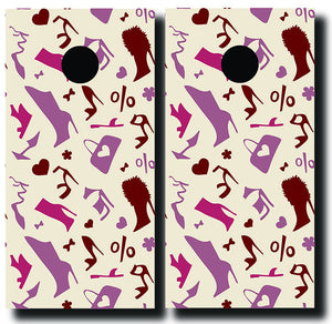 SHOE FETTISH 24x48 cornhole board wraps - SET OF 2 - BG Boards and Graphics LLC