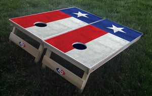 TEXAS GRUNGE FLAG 3/4 hardwood tournament grade cornhole set with matching bags - BG Boards and Graphics LLC  - 1