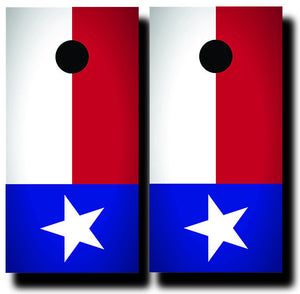 TEXAS STATE FLAG 24x48 cornhole board wraps - SET OF 2 - BG Boards and Graphics LLC