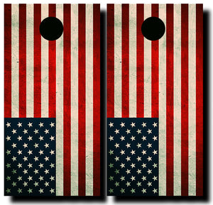 AMERICAN FLAG 24x48 cornhole board wraps - SET OF 2 - BG Boards and Graphics LLC