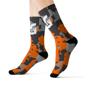 Orange Camo BG Rockin' Socks