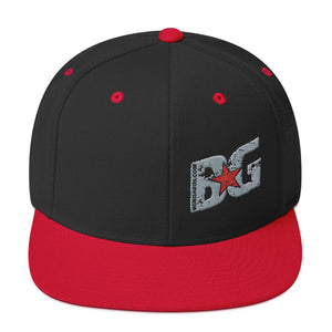 Slant BG Embroidered Snapback Hat