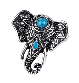 Cute Turquoise Elephant Ring