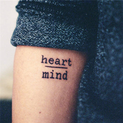 Heart over Mind + Courage over Fear - Temporary Tattoo Set