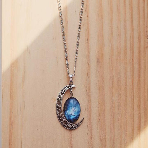 Galaxy Moon Necklace
