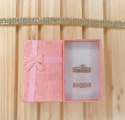 Gold Valentine's Gift Box
