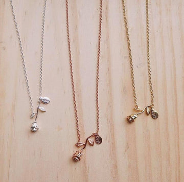 Love Charm Rose Necklaces