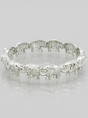 Elephant Crystal Stretch Bracelet
