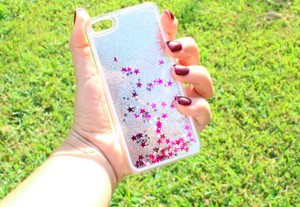 Silver Falling Stars Iphone Case