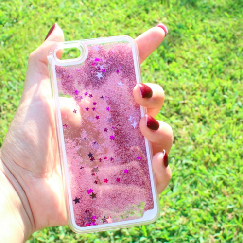 Pink Falling Stars Iphone Case
