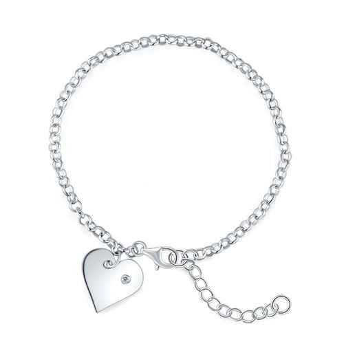 Heart Bridesmaid Silver Bracelet