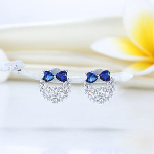 Blue Bow Earrings