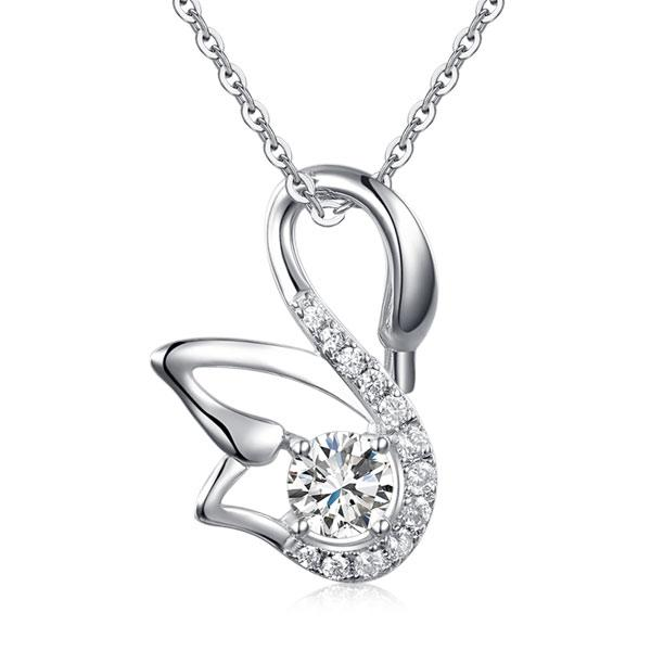 Silver Swan Necklace