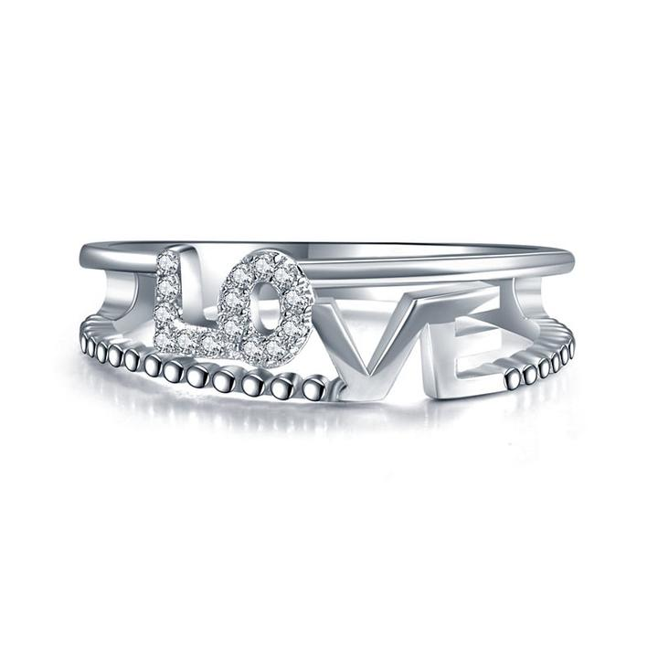 'Love' Engraved Ring