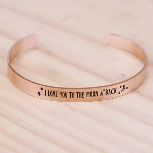 I Love You To The Moon & Back Bracelet