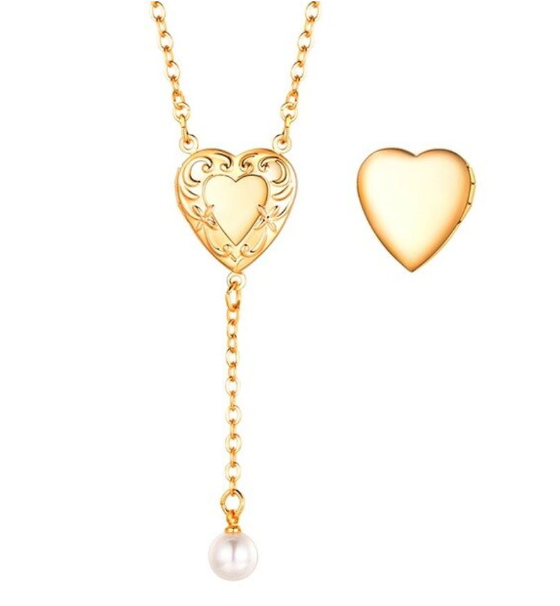 Love Heart Locket Necklace