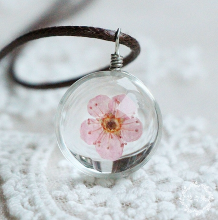 Floral Quartz Stone Necklace