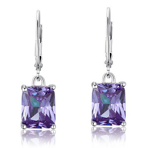 Purple Sapphire Dangle Earrings
