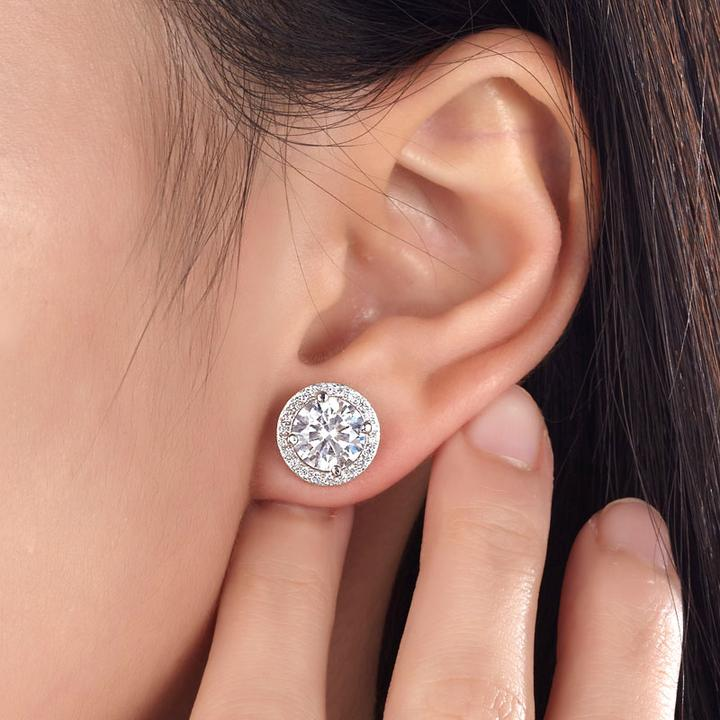 Sparkling Halo Earrings