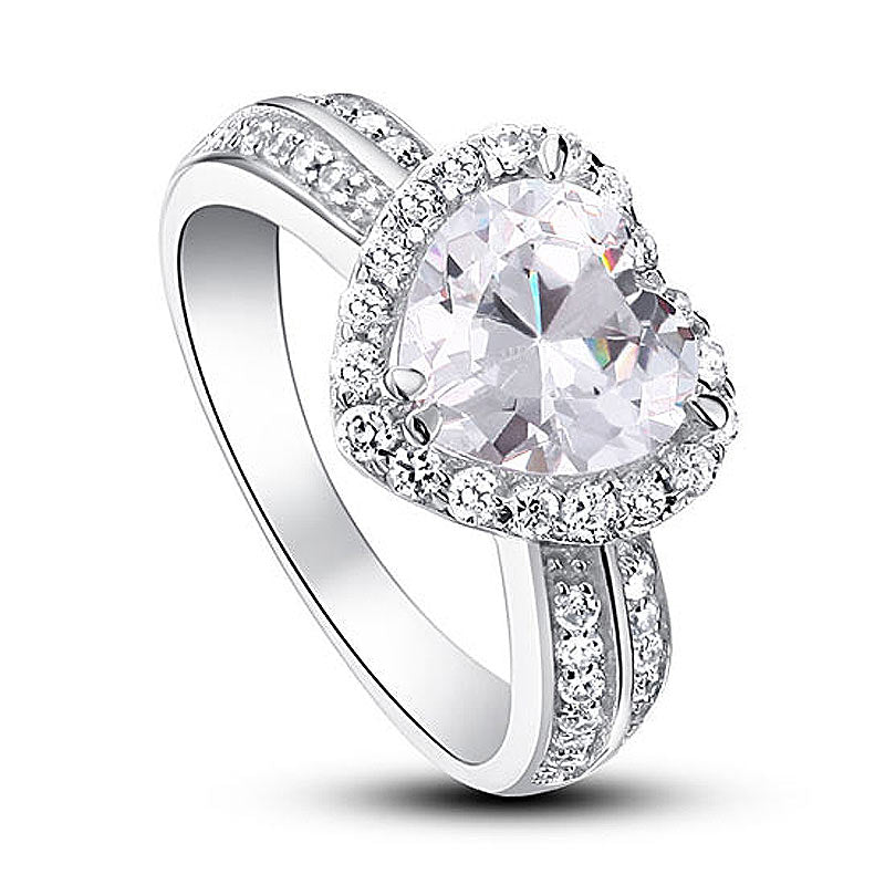 Gorgeous Diamond Heart Ring