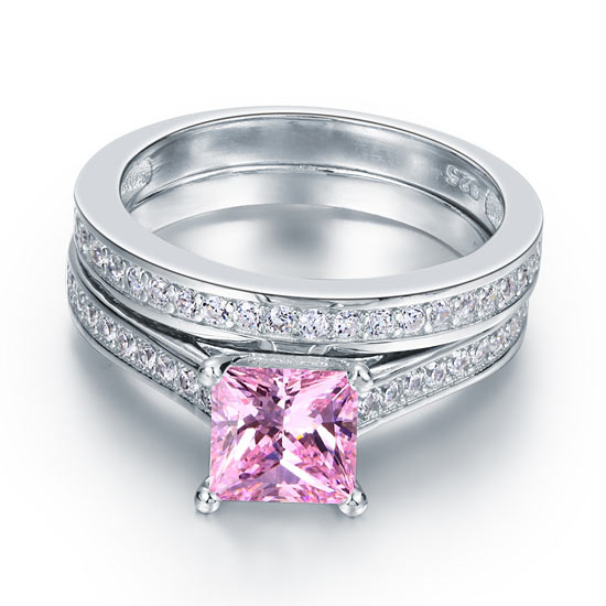 """I Choose You"" Double Row Pink Ring"