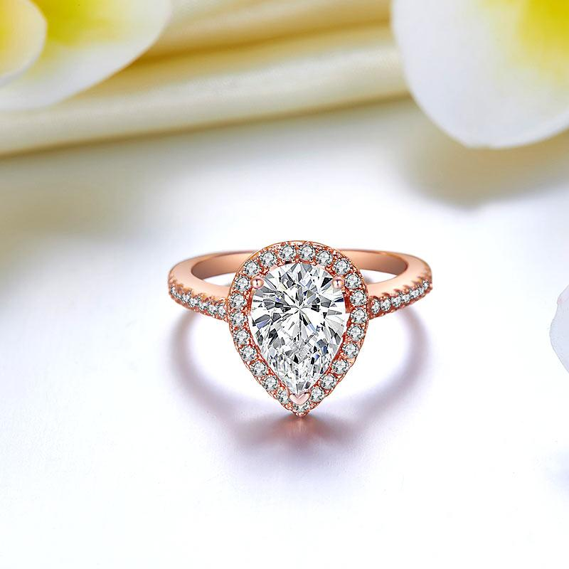 Rose Gold Pear Cut Ring