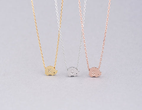 Personalized Hedgehog Necklace