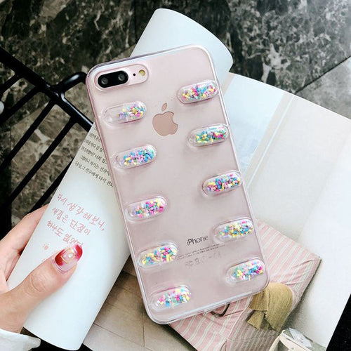 Cute 3D Capsule Pills Phone Case