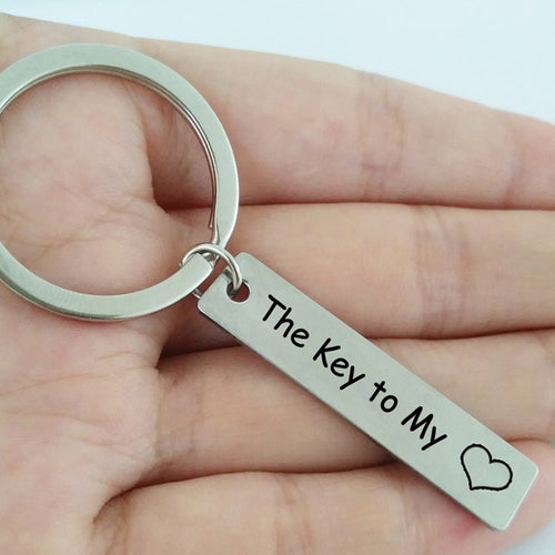 The Key To My Heart Keychain