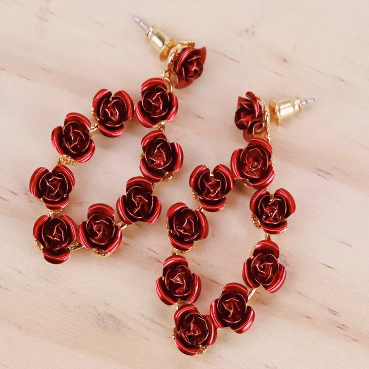 Dainty Rose Earrings