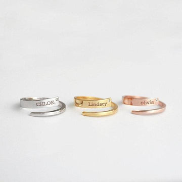 Stackable Personalized Name Ring