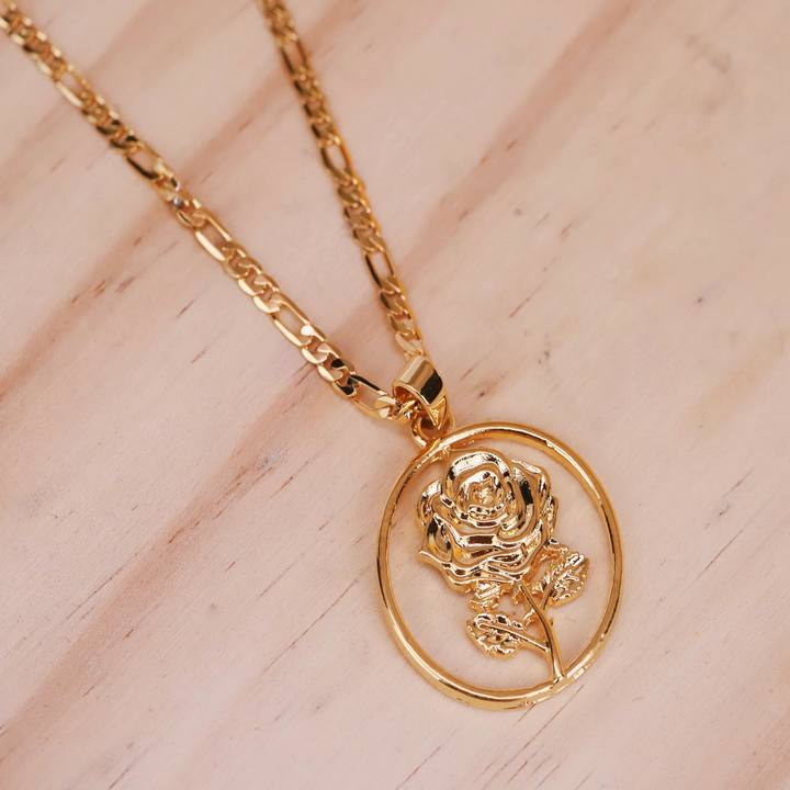 Flower Rose Necklace